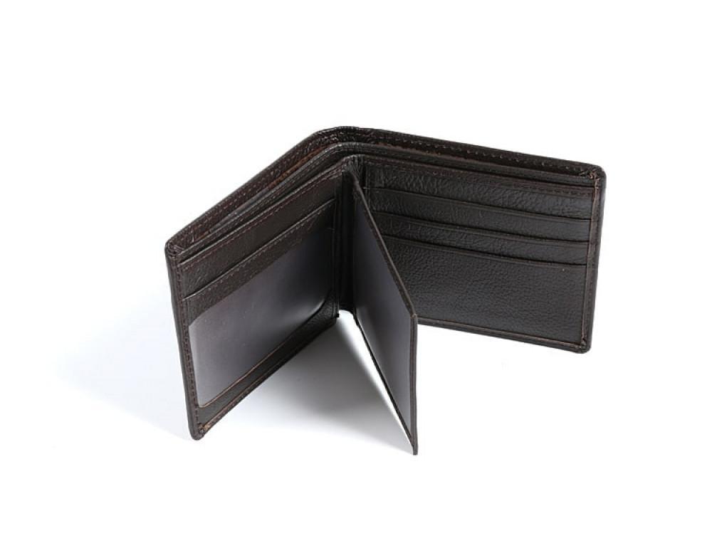 Кожаный портмоне TIDING BAG A7-821С тёмно-коричневый - Фото № 2