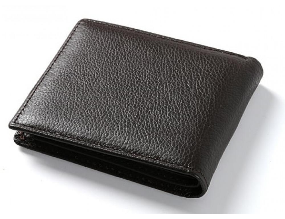 Кожаный портмоне TIDING BAG A7-821С тёмно-коричневый - Фото № 1