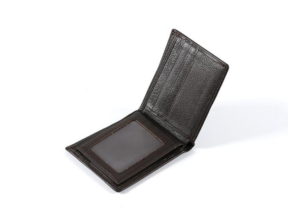 Кожаный портмоне TIDING BAG A7-821С тёмно-коричневый - Фото № 3