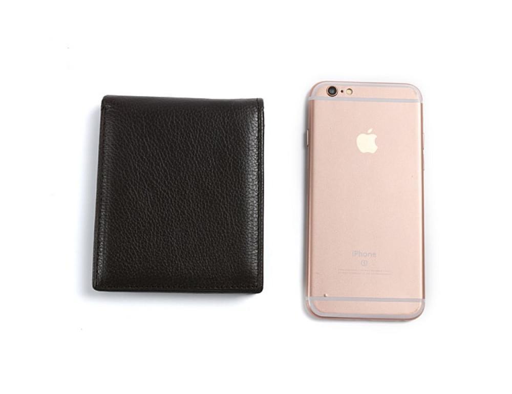 Кожаный портмоне TIDING BAG A7-821С тёмно-коричневый - Фото № 4
