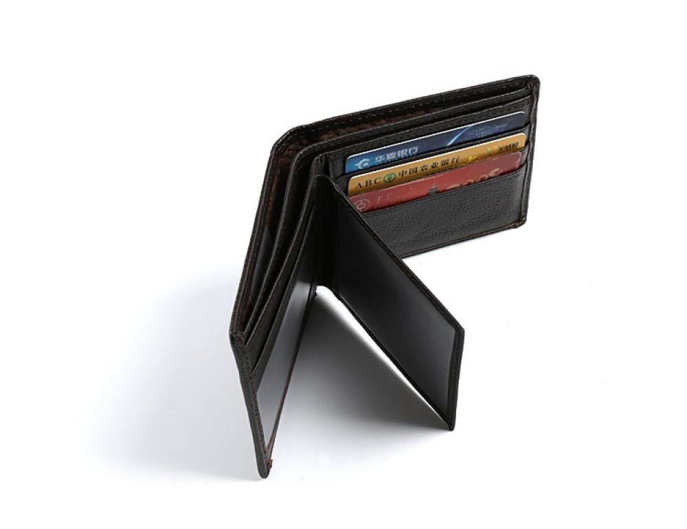 Кожаный портмоне TIDING BAG A7-821С тёмно-коричневый - Фото № 5