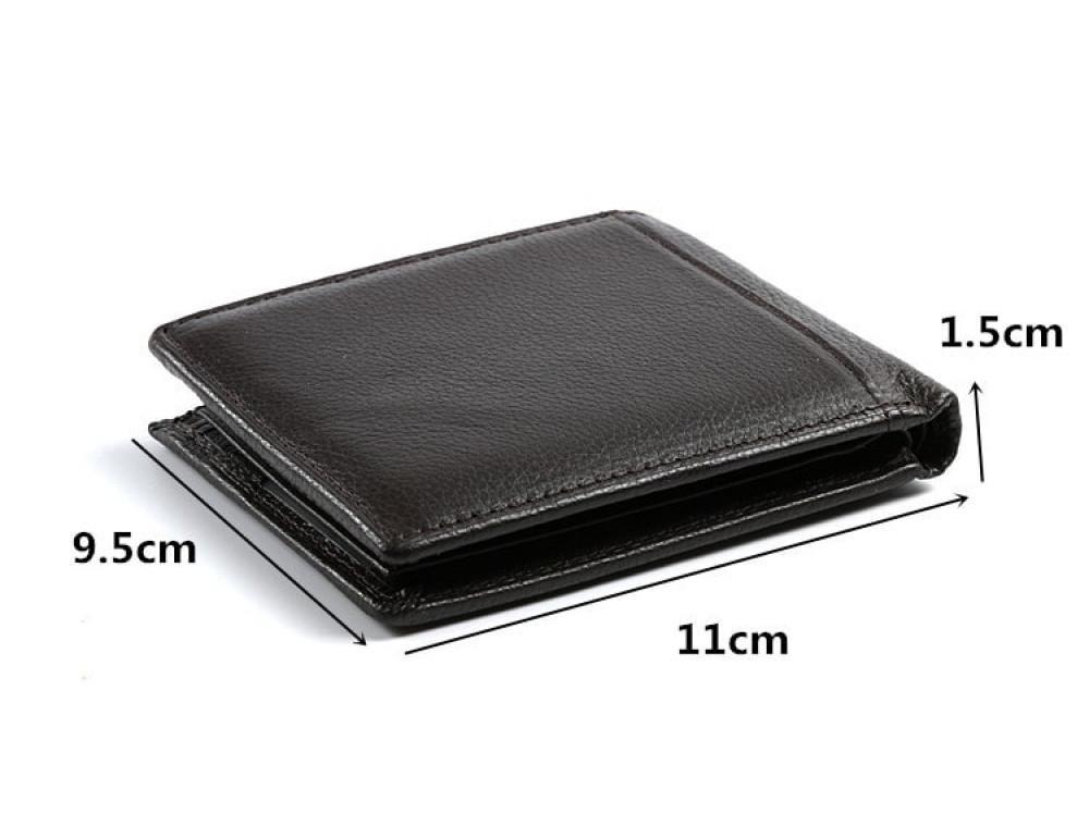 Кожаный портмоне TIDING BAG A7-821С тёмно-коричневый - Фото № 6
