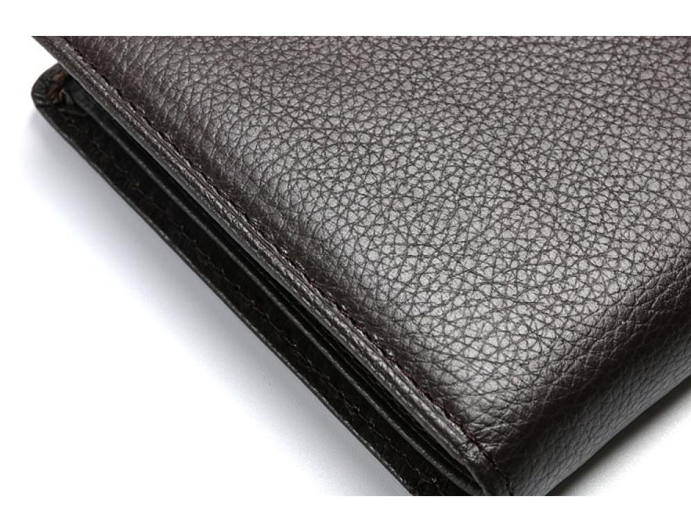 Кожаный портмоне TIDING BAG A7-821С тёмно-коричневый - Фото № 7