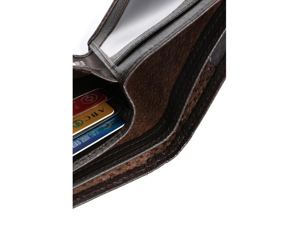 Кожаный портмоне TIDING BAG A7-821С тёмно-коричневый - Фото № 8