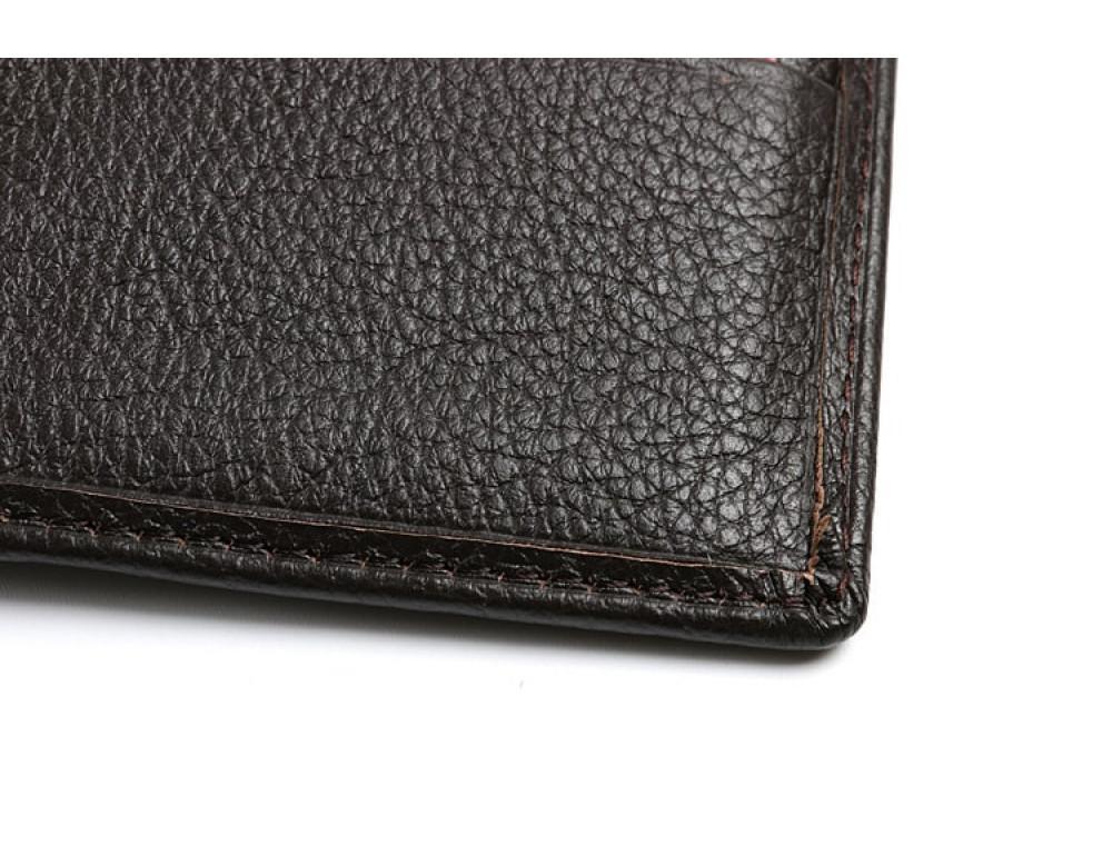 Кожаный портмоне TIDING BAG A7-821С тёмно-коричневый - Фото № 9