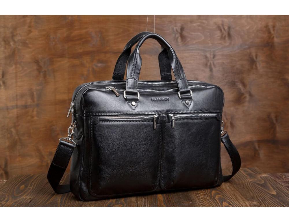 Мужской кожаный портфель Blamont Bn001A - Фото № 3