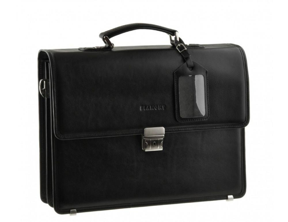 Мужской вместительный кожаный портфель Blamont Bn034A  - Фото № 3