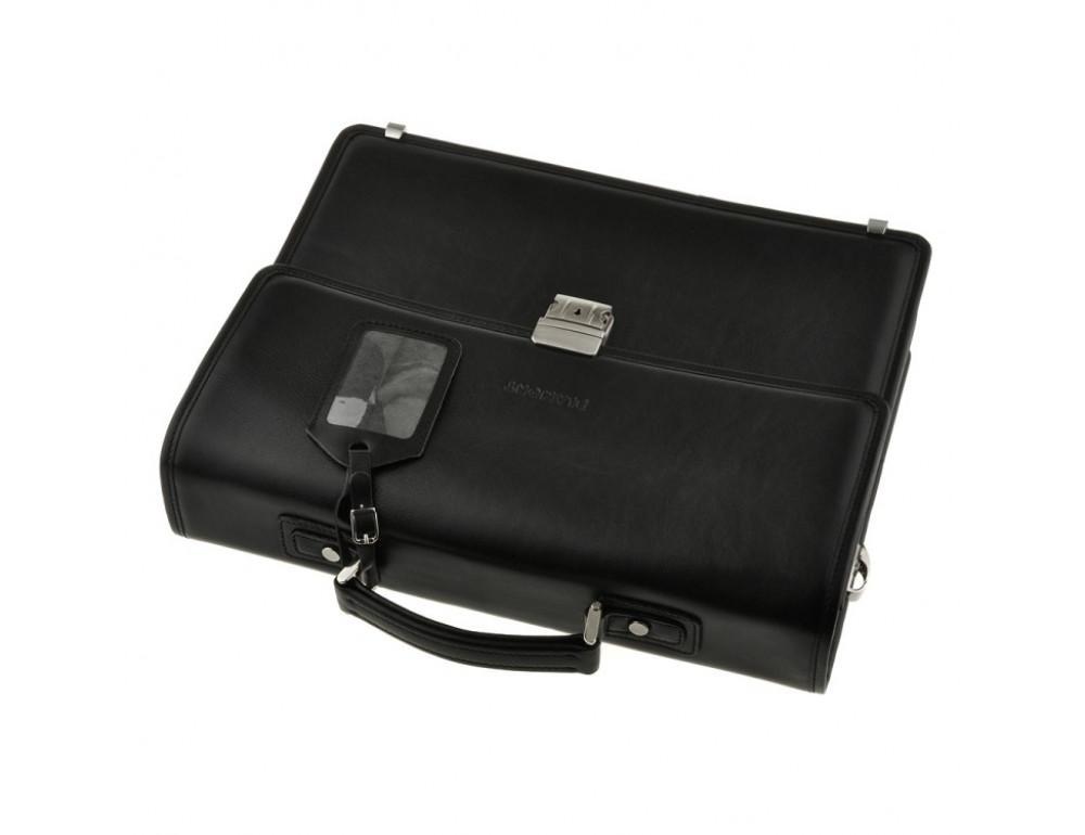 Мужской вместительный кожаный портфель Blamont Bn034A  - Фото № 4
