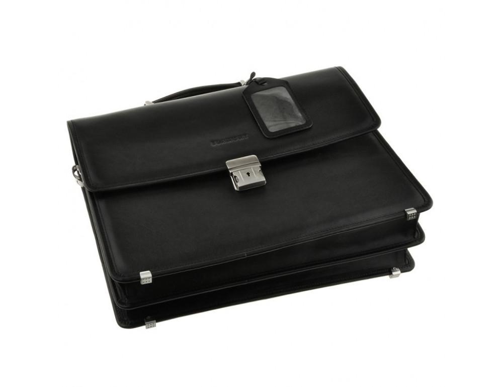 Мужской вместительный кожаный портфель Blamont Bn034A  - Фото № 5
