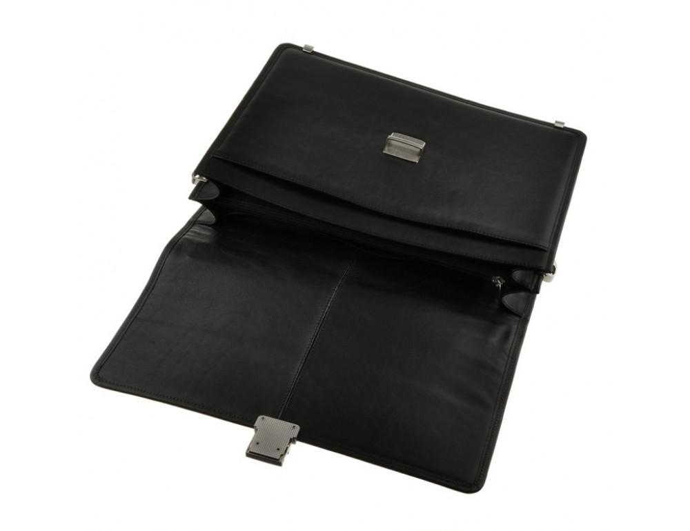 Мужской вместительный кожаный портфель Blamont Bn034A  - Фото № 7