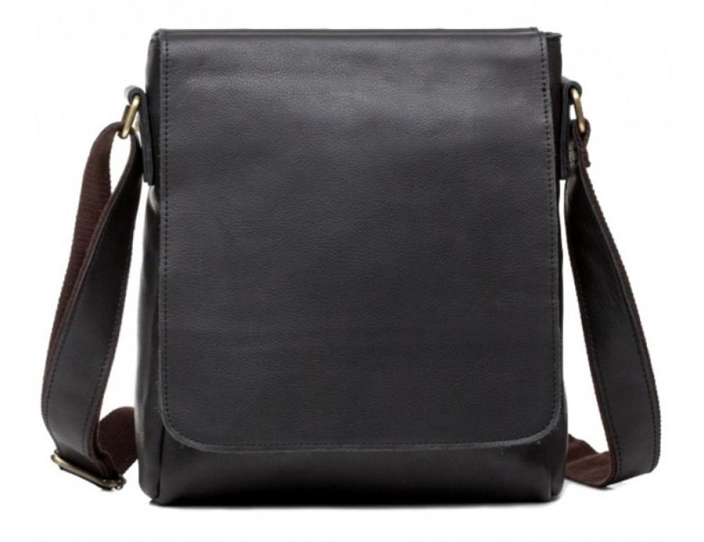 Шкіряний месенджер Tiding Bag G1157A чорна