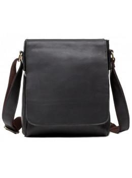 Кожаный мессенджер Tiding Bag G1157A чёрная
