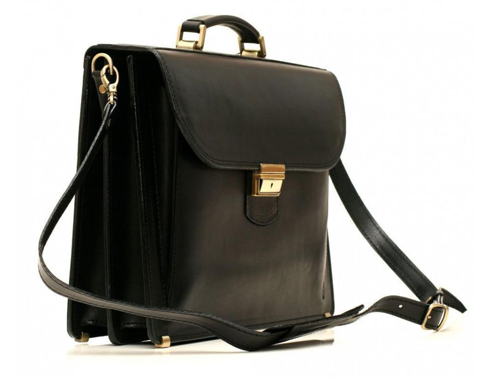 Черный портфель мужской кожаный Manufatto 12201AA - Фото № 2
