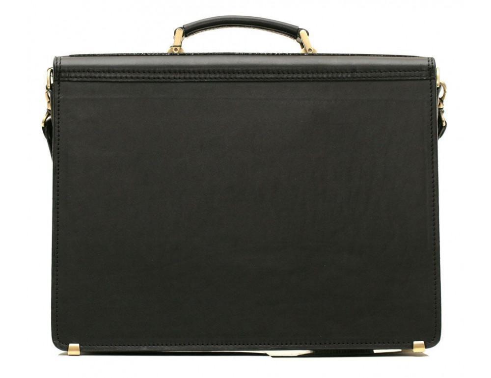 Черный портфель мужской кожаный Manufatto 12201AA - Фото № 4