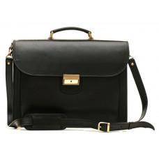 Чорний портфель чоловічий шкіряний Manufatto 12201AA