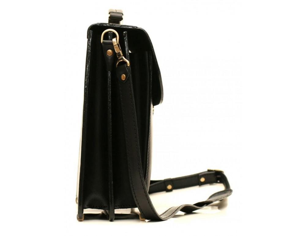 Черный портфель мужской кожаный Manufatto 12201AA - Фото № 3