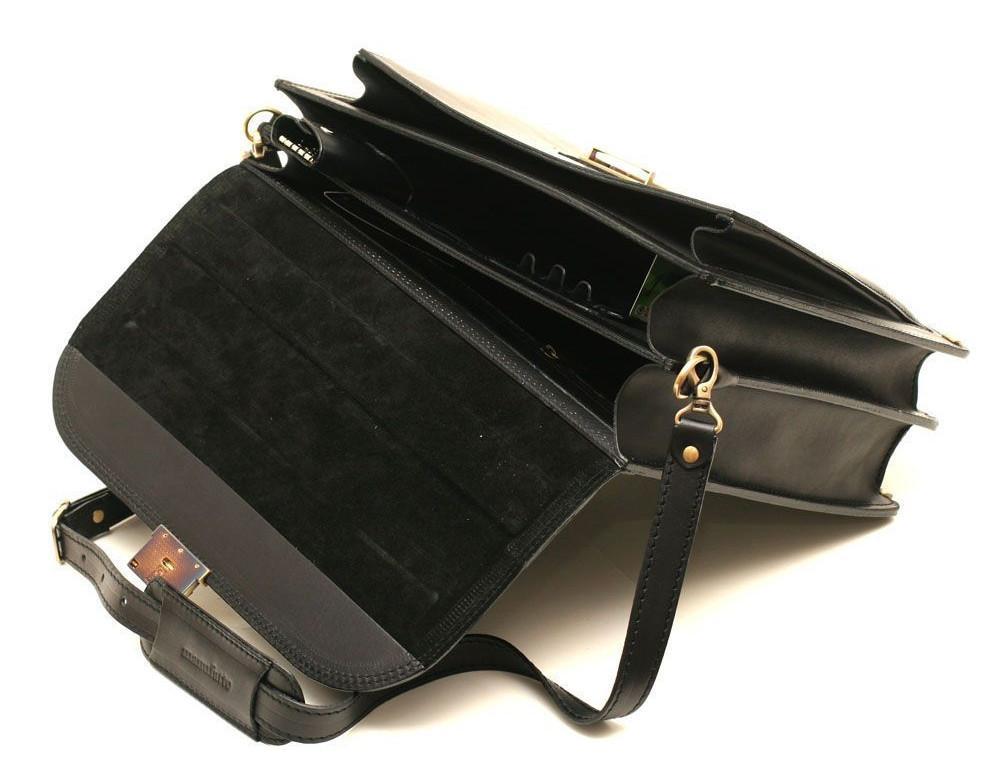 Черный портфель мужской кожаный Manufatto 12201AA - Фото № 5