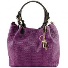 Фиолетовая женская сумочка из натуральной кожи KEYLUCK Tuscany Leathe TL141573 PURPLE