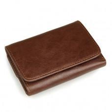 Коричневый кожаный кошелёк S.J.D. R-8106C