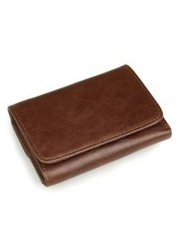 Коричневий шкіряний гаманець S.J.D. R-8106C