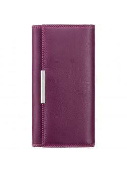 Сливовый кожаный кошелёк Visconti R11 PLUM M Paloma c RFID