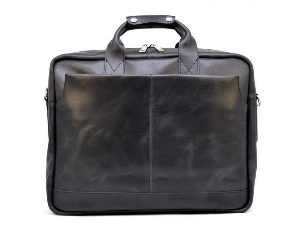 Чёрная стильная сумка под ноутбук на 17 дюймов TARWA RA-1019-4lx - Фото № 1