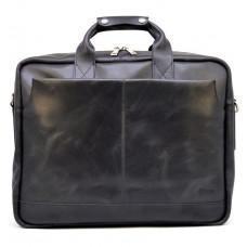 Чёрная стильная сумка под ноутбук на 17 дюймов TARWA RA-1019-4lx