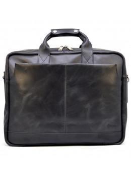 Чорна стильна сумка під ноутбук на 17 дюймів TARWA RA-1019-4lx