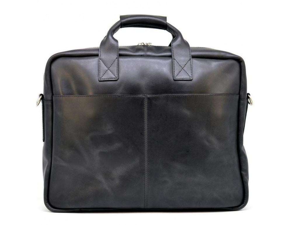 Чёрная стильная сумка под ноутбук на 17 дюймов TARWA RA-1019-4lx - Фото № 4