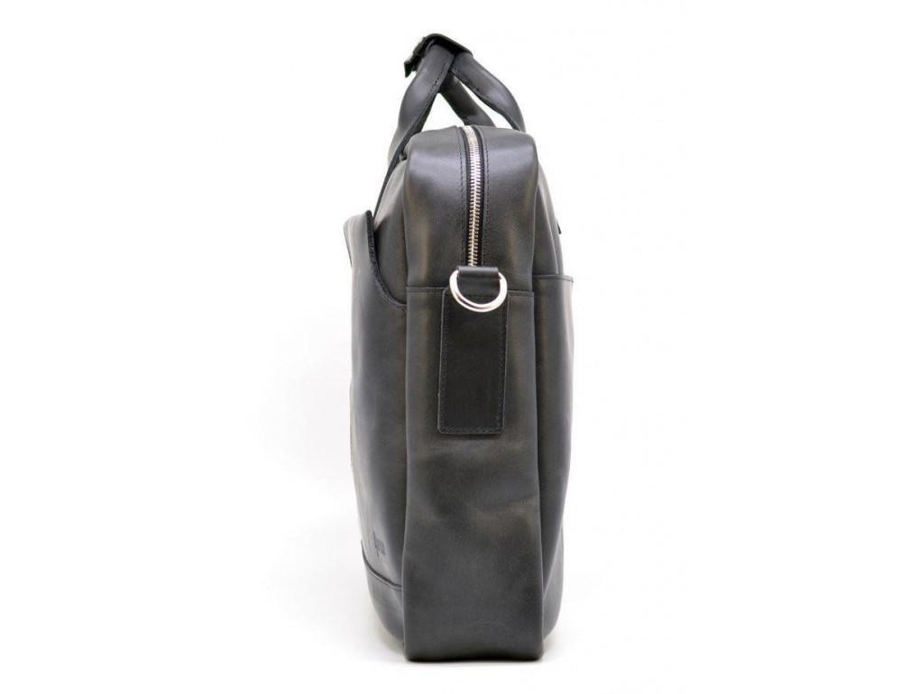 Чёрная стильная сумка под ноутбук на 17 дюймов TARWA RA-1019-4lx - Фото № 5