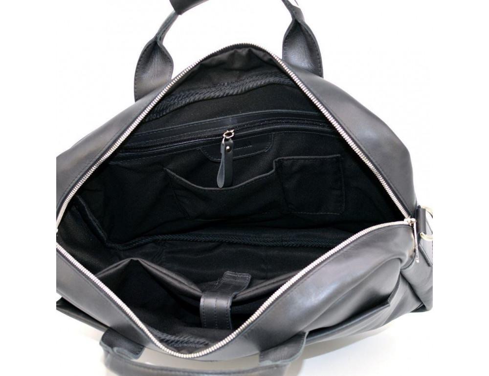 Чёрная стильная сумка под ноутбук на 17 дюймов TARWA RA-1019-4lx - Фото № 6