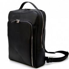 Чёрный кожаный рюкзак под ноутбук TARWA RA-1239-4LX