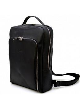 Чорний шкіряний рюкзак під ноутбук TARWA RA-1239-4LX
