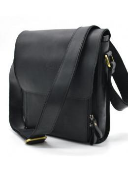 Чорна чоловіча сумка через плече TARWA RA-3027-3md crazy horse