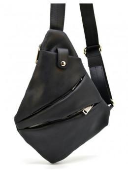 Чорна шкіряна сумка слінг TARWA RA-6402-4lx