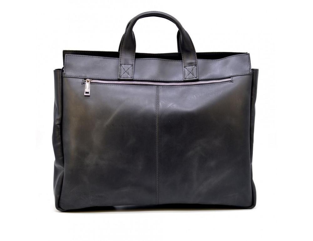 Большой кожаный портфель на 17 дюймов TARWA RA-7107-extra - Фото № 2