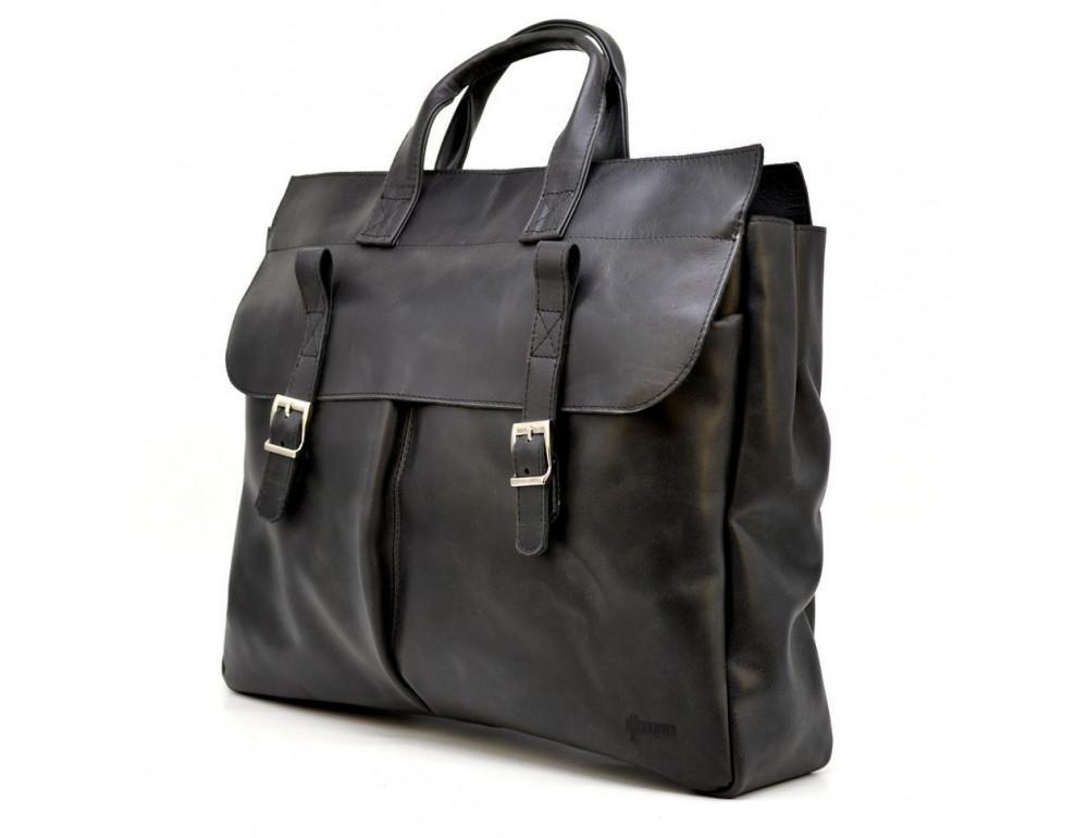 Большой кожаный портфель на 17 дюймов TARWA RA-7107-extra - Фото № 1