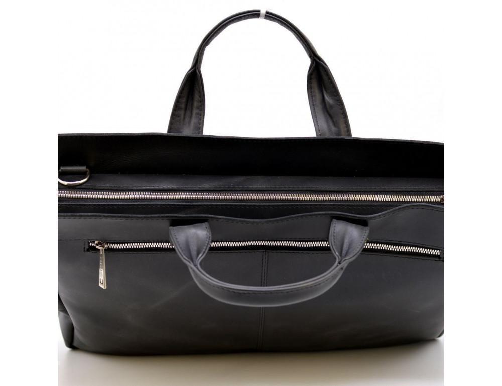 Большой кожаный портфель на 17 дюймов TARWA RA-7107-extra - Фото № 6