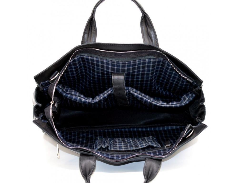 Большой кожаный портфель на 17 дюймов TARWA RA-7107-extra - Фото № 7