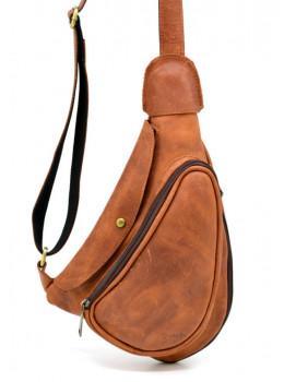 Рыжая кожаная сумка слинг Tarwa rb-3026-3md