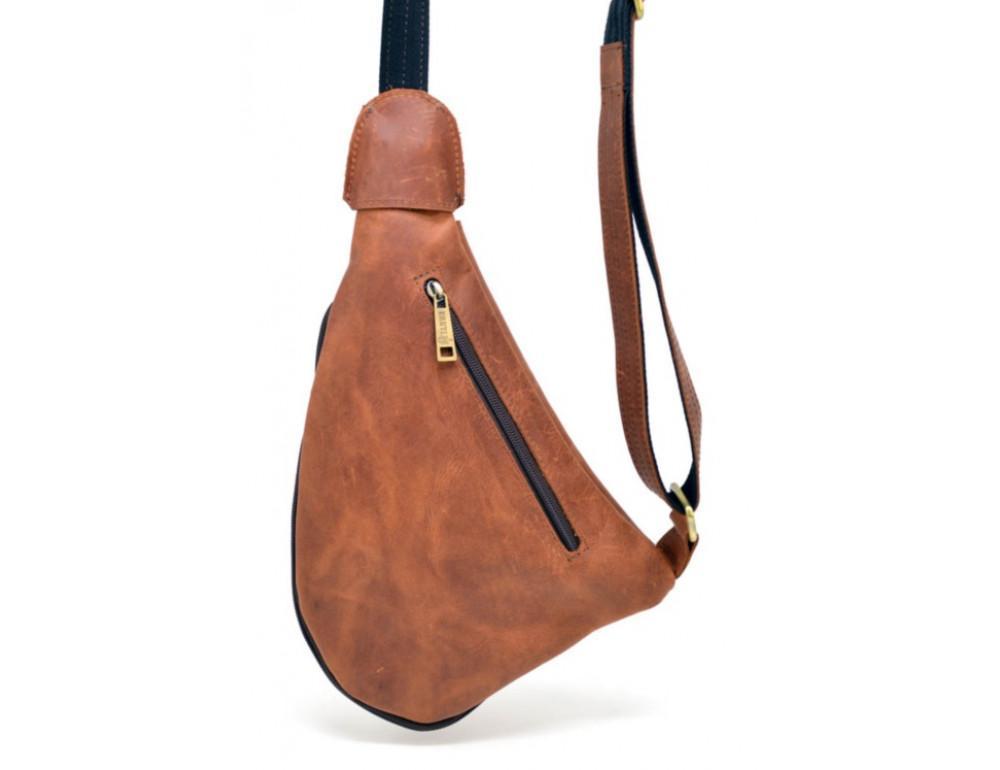 Рыжая кожаная сумка слинг Tarwa rb-3026-3md - Фото № 6
