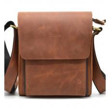 Коричневая винтажная сумка через плечо TARWA RB-3027-3md