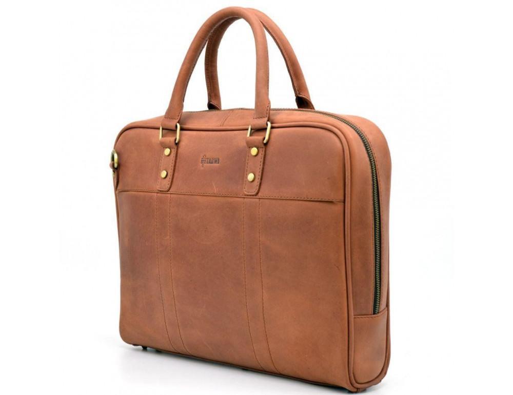 Коричневая кожаная сумка TARWA RB-4765-4lx - Фото № 6