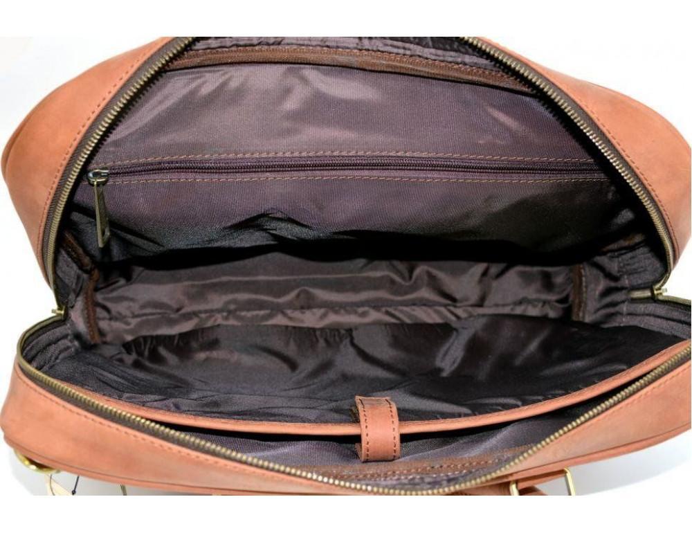 Коричневая кожаная сумка TARWA RB-4765-4lx - Фото № 2