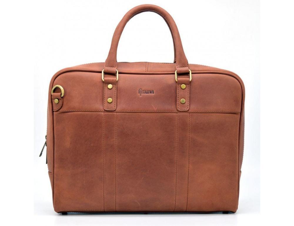 Коричневая кожаная сумка TARWA RB-4765-4lx - Фото № 7