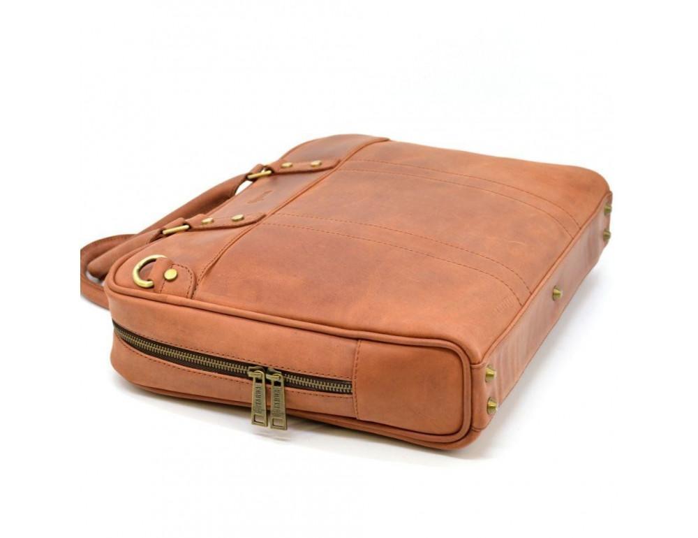 Коричневая кожаная сумка TARWA RB-4765-4lx - Фото № 4