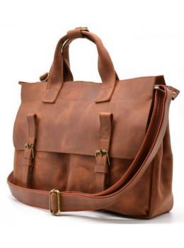 Рыжий кожаный портфель Tarwa RB-7107-3md