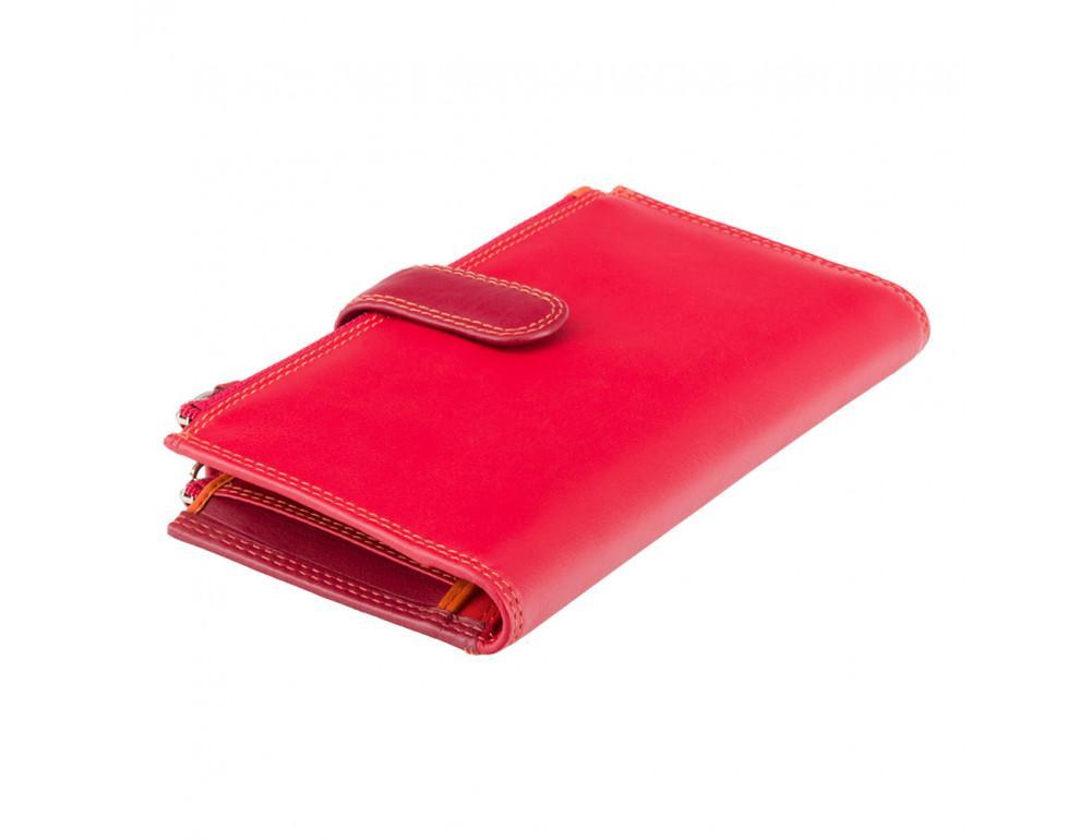 Красный женский кошелёк из натуральной кожи Visconti RB100 RED M Bermuda c RFID - Фото № 1