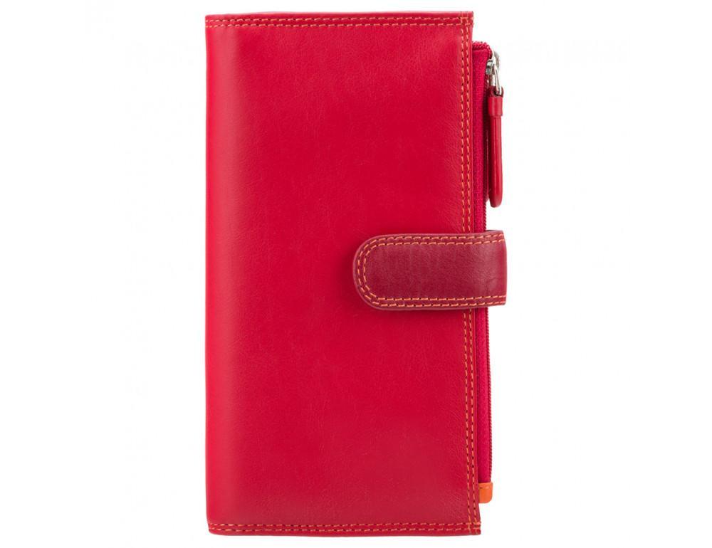 Красный женский кошелёк из натуральной кожи Visconti RB100 RED M Bermuda c RFID - Фото № 3