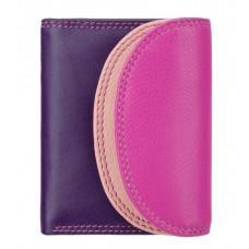Розово - фиолетовый кожаный кошелёк женский Visconti Zanzibar RB126 BERRY M